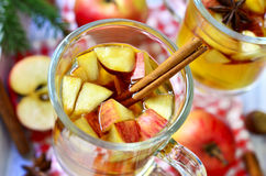 Горячий сидр яблока Стоковое Изображение