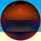 Горячий, солнечный день Темный объектив солнечных очков вектор Стоковая Фотография RF