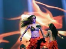 Горячий танец сексуальных девушек Стоковая Фотография RF