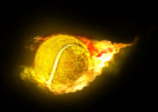 горячий теннис съемки Стоковое Изображение
