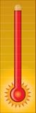 горячий термометр Стоковые Фотографии RF