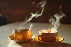 горячий чай стоковые фото