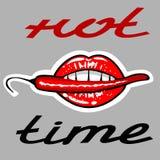 Горячий элемент дизайна логотипа значка времени бесплатная иллюстрация