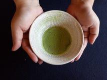 Горячий японский зеленый чай Стоковые Фотографии RF