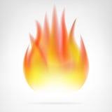 Горячим вектор огня изолированный пламенем Стоковое фото RF