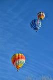3 горячих воздушного шара в воздухе Стоковое Изображение
