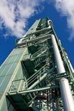 горящая башня газа топлива Стоковые Фотографии RF