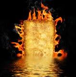 горящая бумага иллюстрация штока