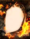 горящая бумага Стоковая Фотография RF
