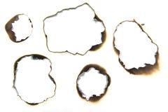 горящая бумага Стоковые Фото