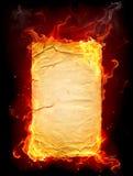 горящая бумага Стоковые Фотографии RF