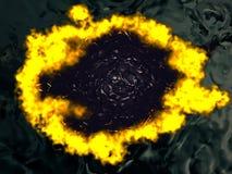 горящая вода Стоковые Изображения RF