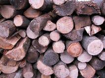 горящая древесина кучи Стоковая Фотография RF