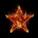 горящая звезда иллюстрация вектора