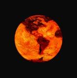 горящая земля Стоковая Фотография