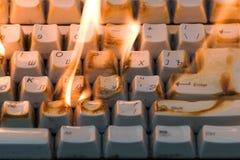 горящая клавиатура стоковая фотография rf