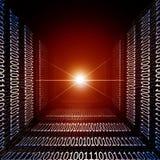 Горящая красная майна информации Стоковая Фотография RF