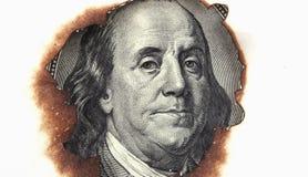 Горящая долларовая банкнота Стоковая Фотография