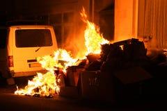 горящая погань Стоковые Фото
