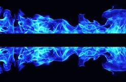 Горящая рамка пламени огня Стоковое Изображение