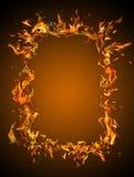 горящая рамка Стоковая Фотография