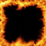 горящая рамка Стоковые Фотографии RF