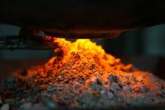 горящая решетка пламени швырка Стоковые Изображения RF