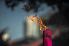 горящая ручка амулета Стоковое фото RF