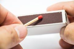 горящая ручка спички Стоковые Фото