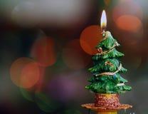 Горящая свеча зимы Стоковое Фото