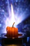 горящая свечка Стоковые Изображения