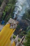горящая свечка Стоковые Изображения RF