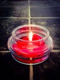 горящая свечка Стоковое Изображение