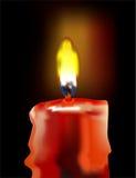 горящая свечка Стоковая Фотография