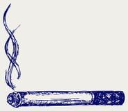 Горящая сигарета иллюстрация штока