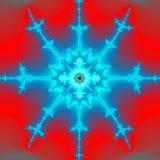 горящая снежинка Стоковая Фотография RF