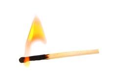 горящая спичка Стоковое Фото