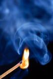 горящая спичка Стоковая Фотография RF