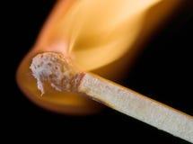 горящая спичка Стоковые Изображения