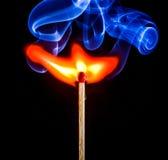 горящая спичка Стоковая Фотография