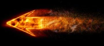 Горящая стрелка Стоковая Фотография