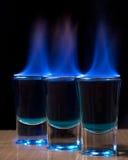 горящая съемка стекла питья Стоковое Фото