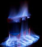 горящая съемка стекла питья Стоковое Изображение