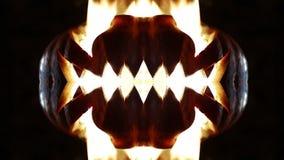 Горящая тыква на хеллоуине looped сток-видео
