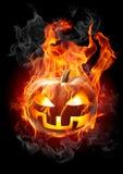 горящая тыква Стоковая Фотография RF