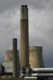 горящая электростанция угля Стоковое Изображение