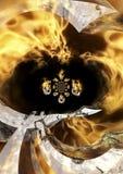 горящее евро Стоковое фото RF
