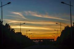 горящее небо стоковые фотографии rf