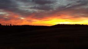 горящее небо Стоковое Фото