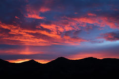 горящее небо стоковые изображения rf